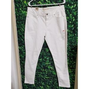 Levi's 711 Mid Rise Skinny White Jeans-Size 16 L33xW30